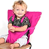 PUERI Baby-Hochstuhl mit Gurt zum Füttern mit Erhöhung, Sitzgeschirr, Gürtel, tragbar, für die Reise, Sicherheits-Hochstuhl, Sitz-Abdeckung, für Baby, Kind, Kleinkind