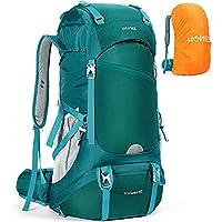 HOMIEE 50L Hiking Waterproof Backpack with Rain Cover Hiking Daypacks