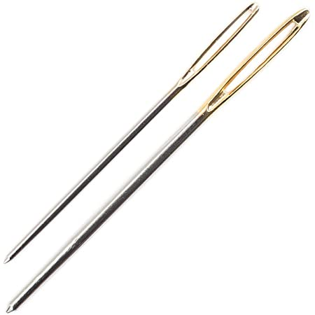 Pony Gold Eye Sewing Needles for Knitters, Metal, Multi-Colour