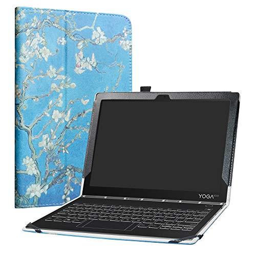 LiuShan Yoga Book C930 hülle, Folding PU Leder Tasche Hülle Case mit Ständer für 10.1