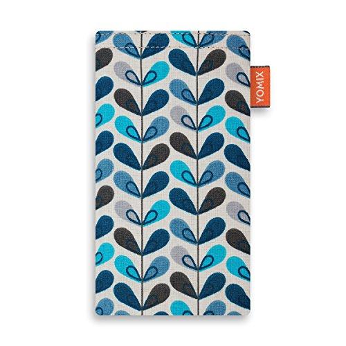 YOMIX Emma mit Strahlenschutz Handytasche Tasche für HTC Desire 10 Lifestyle aus beschichteter Baumwolle mit Microfaserinnenfutter | Hülle mit Reinigungsfunktion | Made in Germany