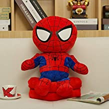Cartoon Down Cotton Pillow Blanket, Plush Toys, Home Bedroom Two-in-one Air-conditioned Blanket Lightning Man 60cm (Color : Spiderman)