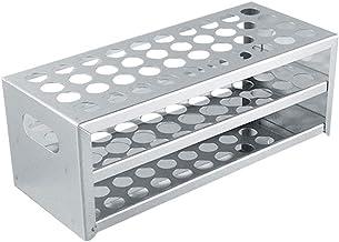 Adamas-Beta 40 Holes 304 Stainless Steel Test Tube Rack Test Tube Rack Holder, Holes Diameter φ20.5mm/0.81in, 1pcs