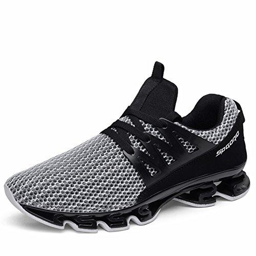 Scarpe da Running Uomo Sport Mesh Slip on Trail Traspirante Runners Fashion Sneakers Athletic Springblade Walking Scarpe di Grandi Dimensioni