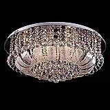 24'Moderno cristal colgante de vidrio rebanada de techo lámpara de techo redondo acero inoxidable superior sala de estar dormitorio romántico dormitorio real comedor araña accesorios (Color : 80cm)