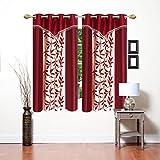 Saawaan Designer Kolaveri Window Curtain (4 x 5 Feet) Set of 2