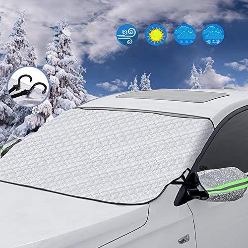wdede Frontscheibenabdeckung Auto Scheibenabdeckung,Windschutzscheibenabdeckung Autoabdeckung Winter, für die Windschutzscheibe gegen Schnee, EIS, Frost, Staub, Sonne(148CM×117CM)