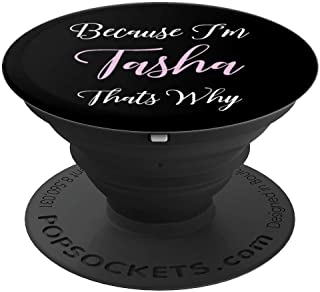 Tasha Name Personalized Women Cute Pink Girl Custom Gift PopSockets Grip and Stand for Phones and Tablets