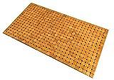Kos Design Bambus Badematte - Badvorleger Bambus fr Badezimmer Dusche Sauna Wellness fumatte Innen Auen mit Antirutsch 45 X 80 cm