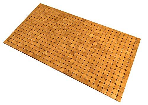 Kos Design Bamboe Badmat voor Badkamer Douche Spa Sauna Wellness Indoor Outdoor met Anti Slip 45 x 80 CM