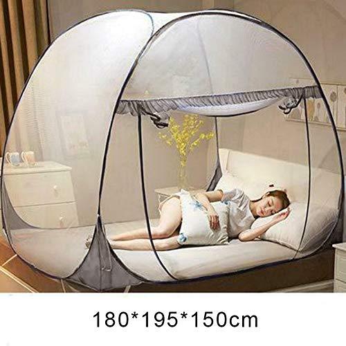 Vtops Moskitonetz zum Aufklappen, Netz-Zelt, für drinnen und draußen, für den Garten, grau, (Gray, 180 * 195 * 150cm)