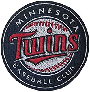 Baseball Round Embroidered Iron on Patch Twins