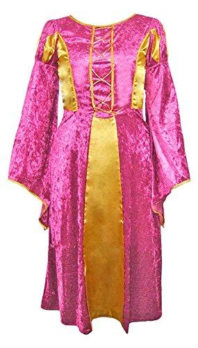 Das Kostümland Burgfräulein Prinzessin Helena für Mädchen - Pink Gold Gr. 104