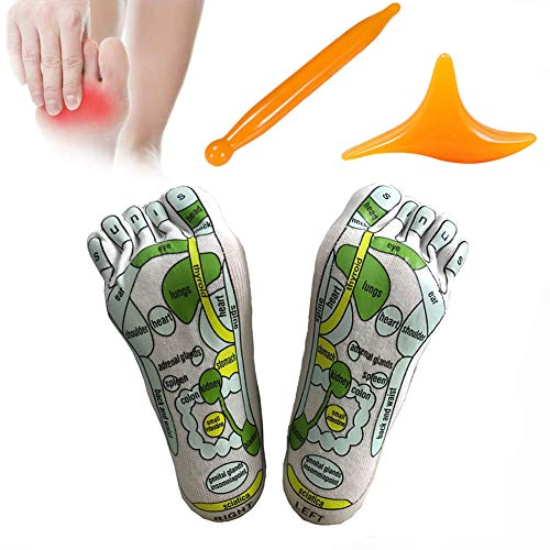 Acupressure Reflexology Socks Foot Massage Sock Relieve Tired Physiotherapy Socks with Massage Tools