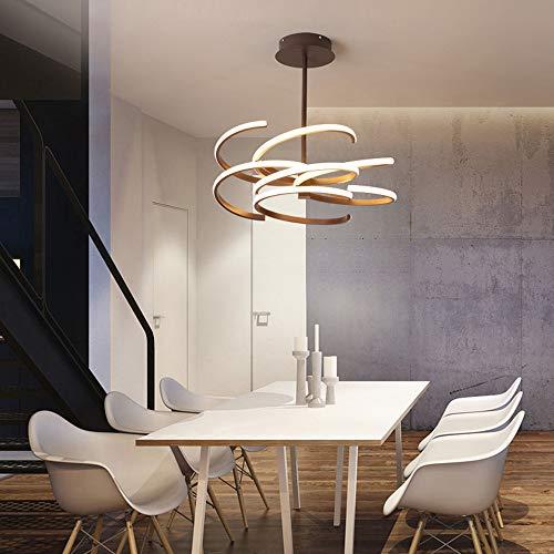 Bradoner Lámpara de techo LED marrón blanco amarillo luz cálida lámpara de aluminio acrílico Villa Hotel Dormitorio Comedor Sala de Estudio Bar Simple Moderno (Color: Luz cálida)