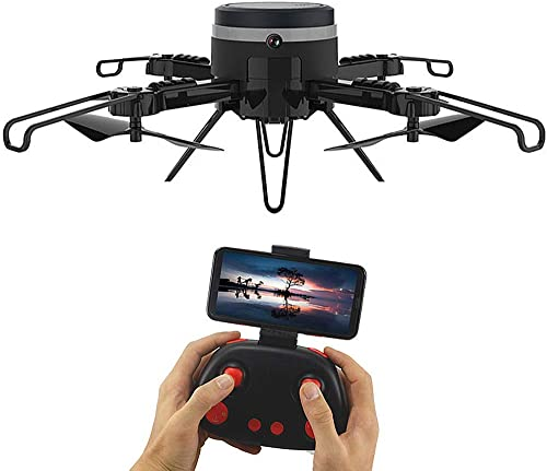 CAPTIANKN Remote Control Drone, 720p HD Camera Remote Four-Achse Aircraft Headless Mode Foldable WiFi Remote Monitoring