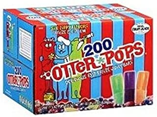 Otter Pops Assorted Flavors, 200-Count