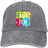 Men's Or Women's Vintage Jeans Baseball Hats Adjustable Strap Low Profile Autism Awareness with Puzzle Pieces Plain Cap Cool4958