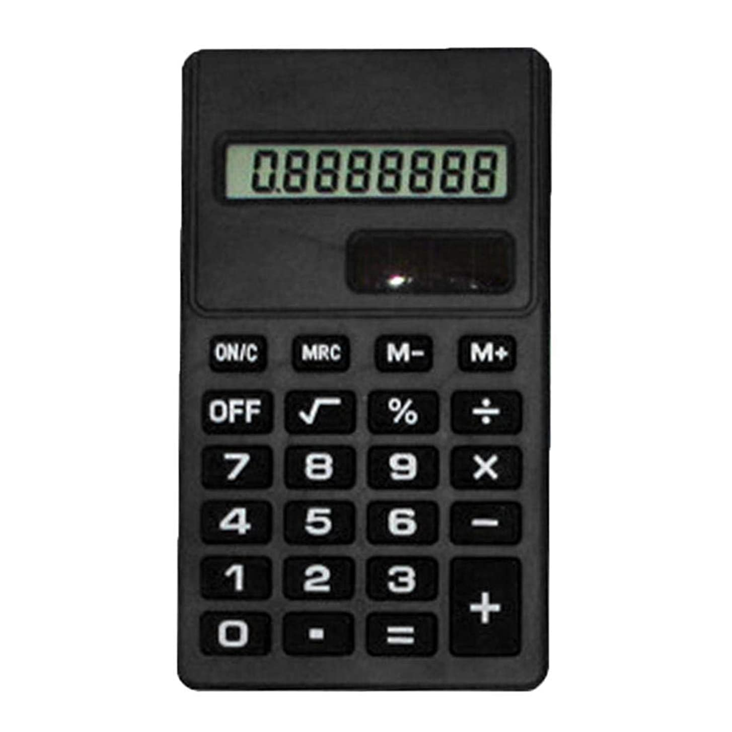 区別ドレインあいにくkiloid 8桁 シリコーン ミニ 電子計算機 学生 オフィス用品 ベーシック, 9.5 x 5.5cm/3.74 x 2.17inch (Approx.), KLMB043785_B##@