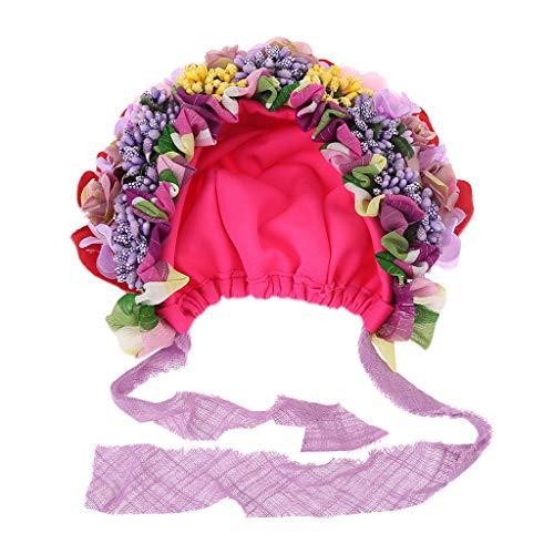 VIccoo Gorra de Bebe, Nacido Bebé Sombrero Fotografía Atrezzo Casquillo Accesorios Sombreros de Flores Forma Linda Decoración - 5