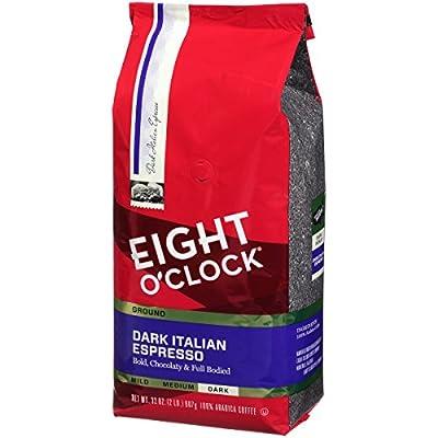 Eight O'Clock Ground Coffee, Dark Italian Espresso, 32 Ounce