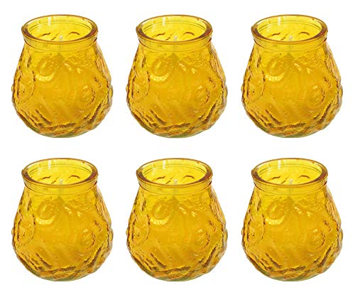 EuroDiscount Citronella Kerzen im Glas Windlichtglas Gartenparty Anti Mücken Kerzen 6 Stück