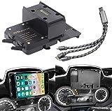 R&P Staffa di Navigazione del Telefono per BMW R 1200 RT Parti del Motociclo Supporto per Telefono Supporto di Ricarica USB Supporto per BMW R1200RT 2014-2019