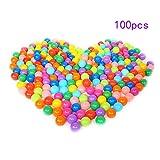Hengbaixin 100 bolas coloridas para bebés, niños, juguete divertido de plástico suave para piscina de agua, bola de océano al aire libre, juego de juguete de 4 cm de diámetro