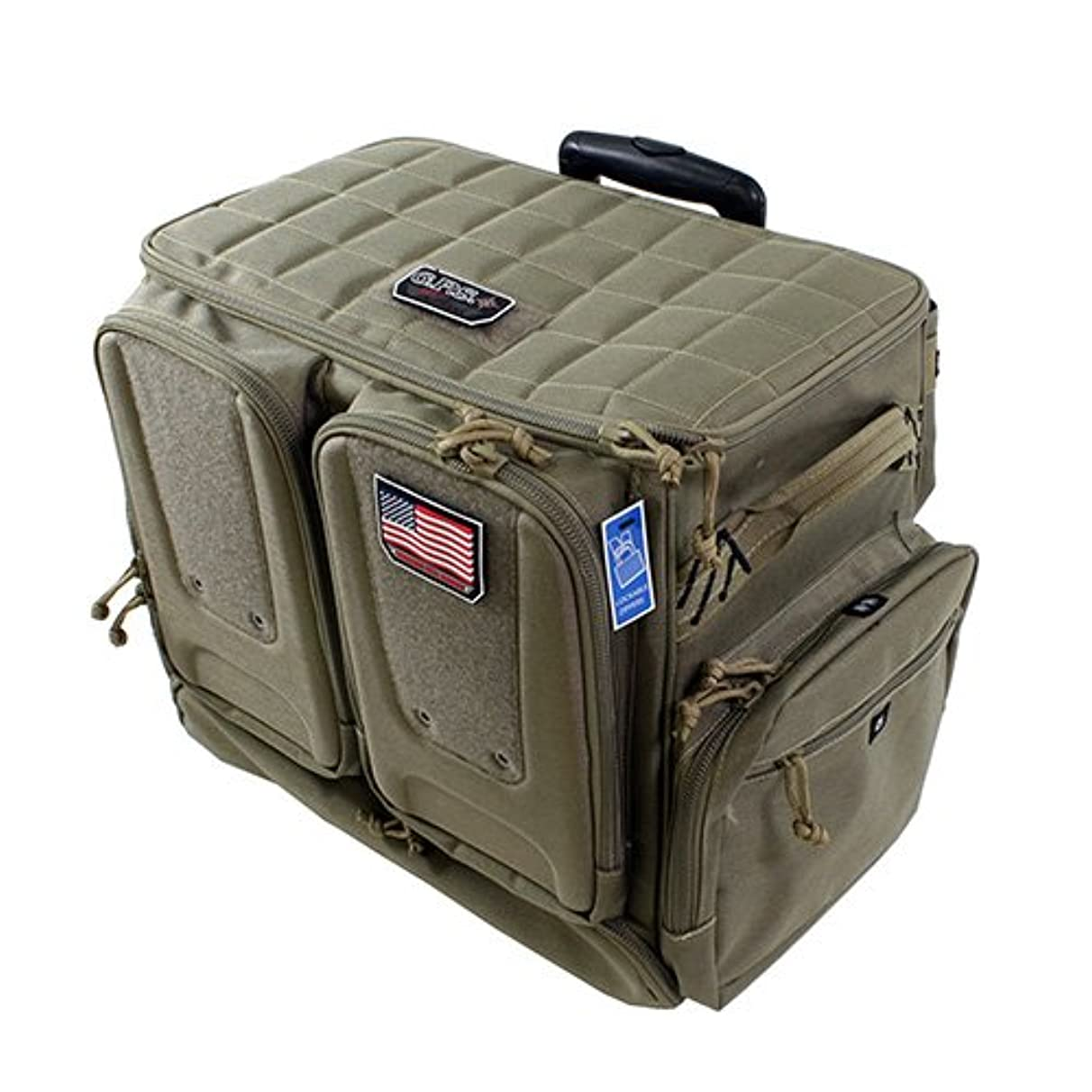 G.P.S. Tactical Rolling Range Bag, Holds 10 Handguns and Related Shooting Gear