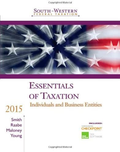 Essentials of Taxation 2015 Individuals and Business Entities South Western Federal Taxation product image