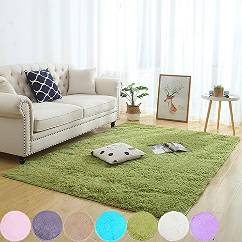 AMCER La Alfombra 70x150cm, Alfombra De Salón, Super Suave Antideslizante, para niños Dormitorio Decoración para el hogar Alfombras de - Verde