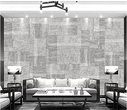 BLZQA 3D Papel tapiz Fotográfico Impresión gris Mural Salón Dormitorio Despacho Pasillo Decoración murales decoración de paredes moderna 300x200 cm-6 panelen