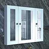 BUBFUL Bathroom Mirror Cabinet Wall Mounted Medicine Pharmacy Cabinets with 3...