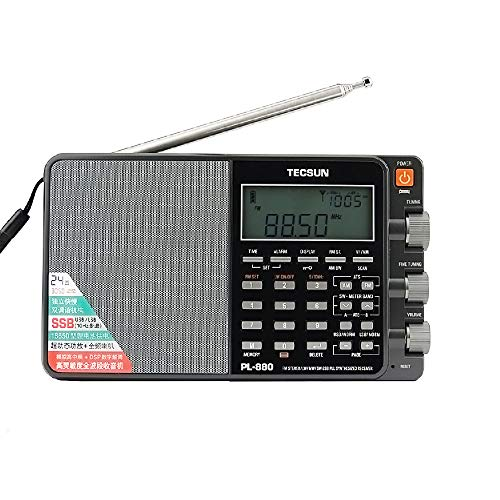 TECSUN PL-880 Portable Digital Radio with LW/SW/MW SSB PLL Modes Full Band Receiver FM (64-108mHz)...