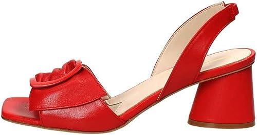Jeannot Sandalo Con Tacco in Pelle rouge, rouge, 40 40  meilleure réputation