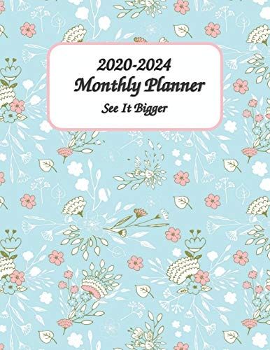 2020-2024 See It Bigger Monthly Planner 8x11: 60 Months Calendar Planner - Pretty Simple Planner For Staying on Track, Self Management & Personal Growth