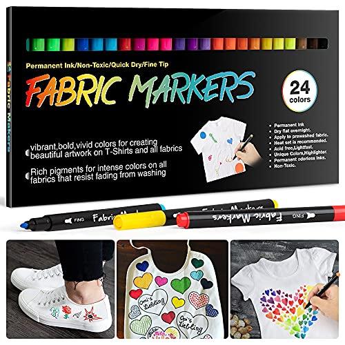 APOGO 24 Textilstifte Waschmaschinenfest, APOGO Textilmarker Bild