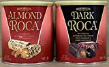 KC Commerce Almond Roca 10 Ounce Canister Variety Pack (Original and Dark Roca)