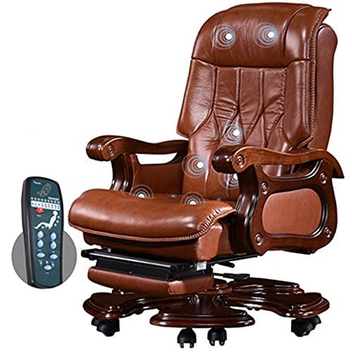 Sillas de Oficina, sillas ejecutivas con reposapiés, sillones de Masaje, sillones reclinables giratorios, sillones de Jefe con Respaldo Alto para Adultos/como se Muestra / 116 / 122cm