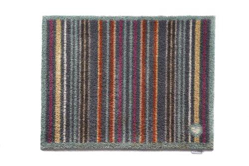 Hug Rug Slate Stripe Designer 13 deurmat, wasbaar, 65 x 85 cm