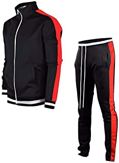Men's Tracksuit Activewear Joggers Sports Set Full Zip Sweat Suit for Youth Teens