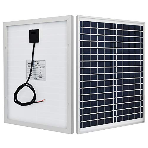 ECO-WORTHY - Módulo de panel solar policristalino de 25 W, 25 W, 12 V, carga de batería para caravana