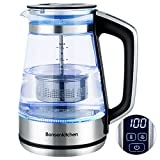 <span class='highlight'>Electric</span> Glass Kettle, Bonsenkitchen 1.7L Temperature Control (40 ℃ - 100℃) Tea Filter Kettle with Keep Warm Function, 2200W Fast Heating,Auto Shut-Off & Boil-Dry Protection