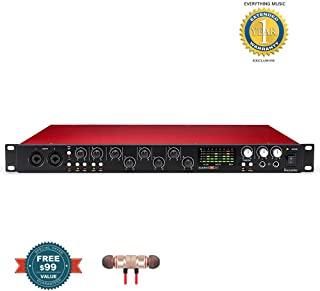 Focusrite Scarlett 18i20 (2nd Gen) USB Audio Interface with Pro Tools | First includes Free Wireless Earbuds - Stereo Bluetooth In-ear and 1 Year Everything Music Extended Warranty