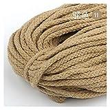Corde tressée pour l'escalade en plein air 5m / lot coloré 5mm coton cordon de coton torsadée corde haute ténacité macrame bricolage textile artisanat tissé chaîne maison décoration touw Convient pour