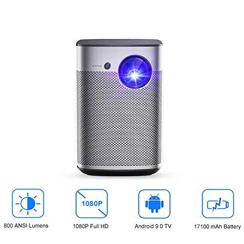Mini proyector Full HD DLP Android 9.0 WiFi Soporte portátil 4K Video TV 3D Home Cinema con batería