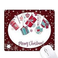クリスマス・ギフト・スノーフレークの電球の松葉杖のパターン オフィス用雪ゴムマウスパッド