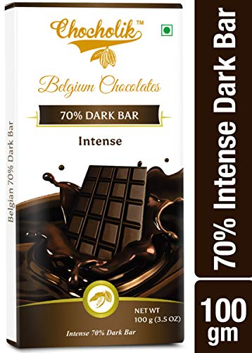 Chocholik Belgium Chocolates Dark 70% Intense Bar...