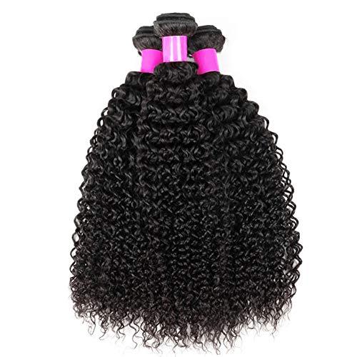 Ur Beautiful 8A Brazilian Kinky Curly Hair Bundles Brazilain Curly Hair Bundles 10 12 14 Inch 100% Unprocessed Virgin Human Curly Hair Bundles Natural Black Color
