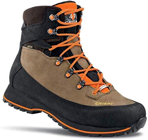 CRISPI Goretex - Zapatillas para hombre Lapponia, botas de caza, caminatas, senderismo, técnicas, impermeables Beige Size: 42 EU